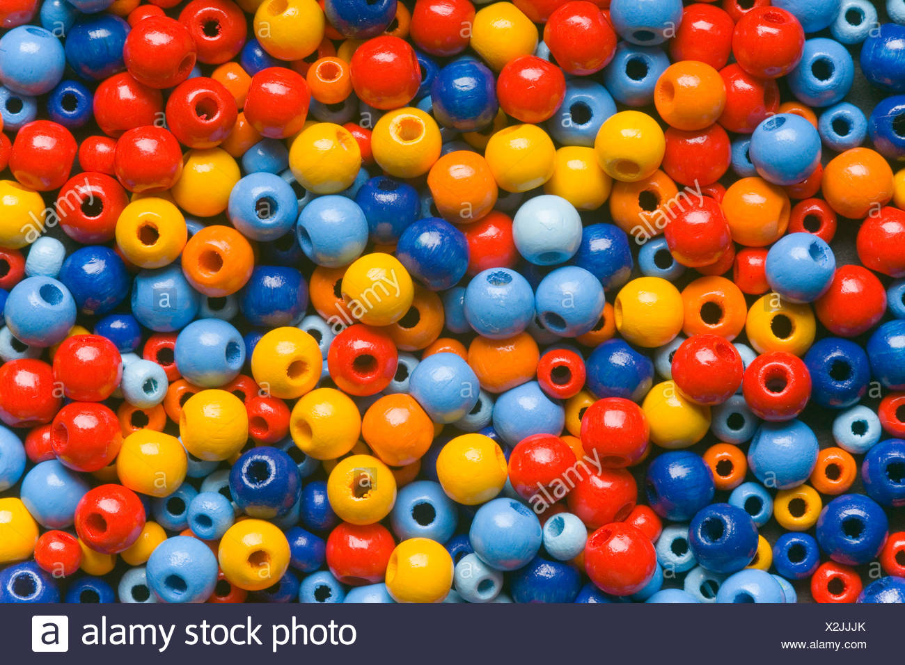 Bunte woodballs Stockbild