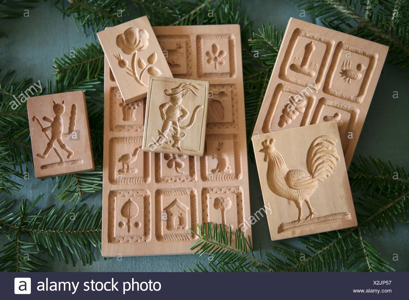 Weihnachtsgebäck Springerle.Hölzerne Schimmel Schimmelpilze Springerle Für Weihnachtsgebäck