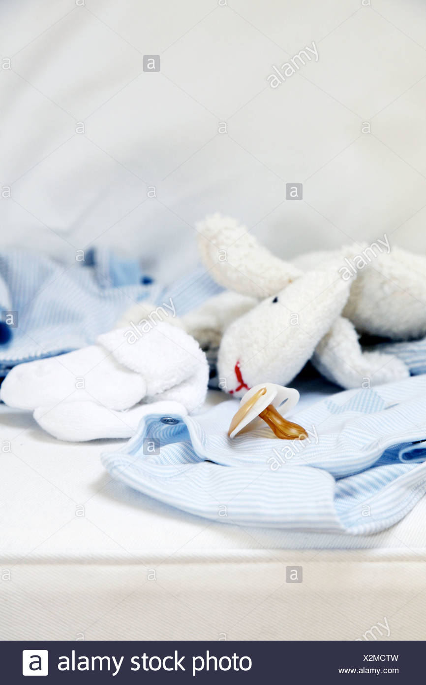Babyartikel, close-up Stockbild