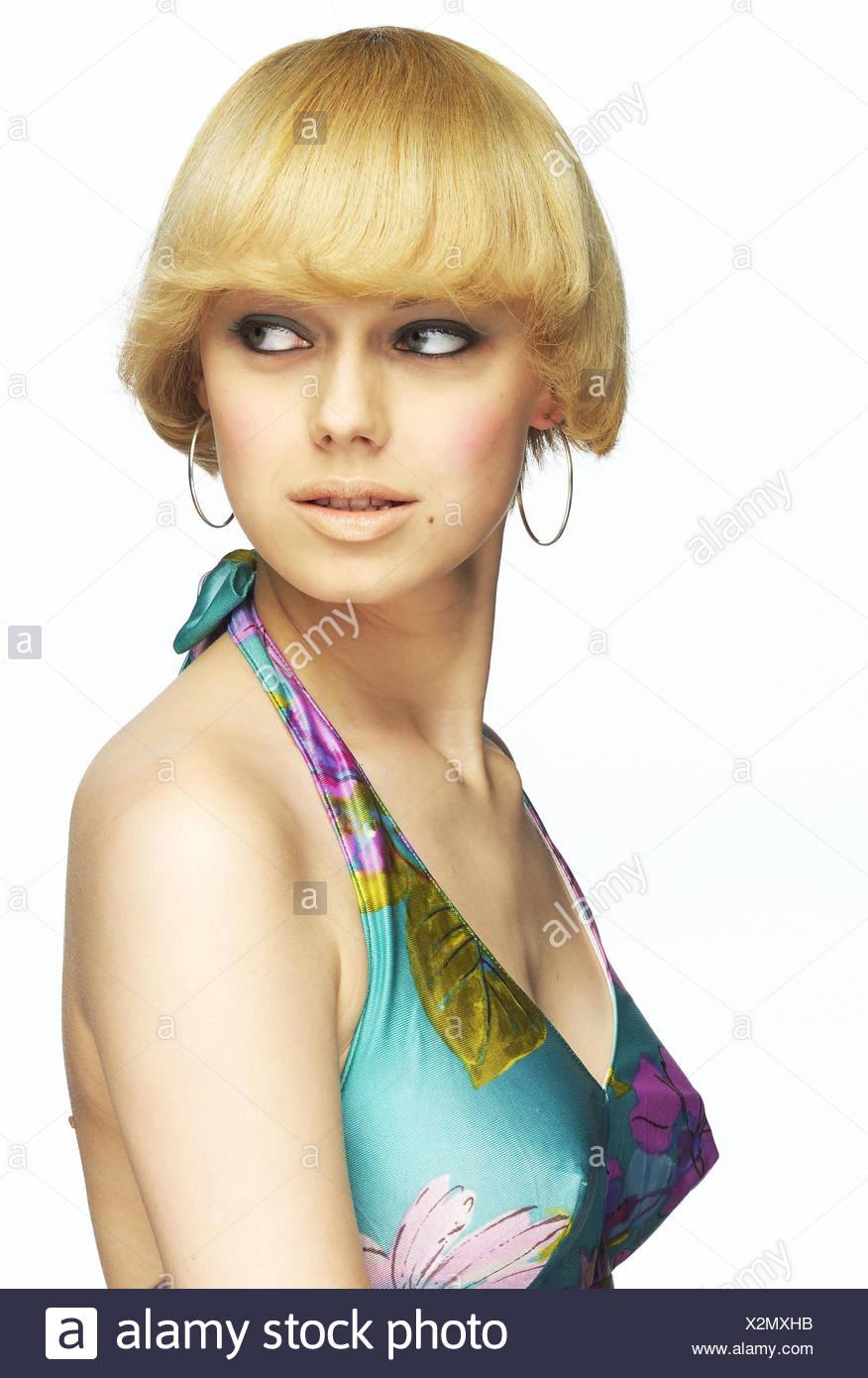 Frau Jung Blond Sicht Schulter Porträt Frauen Porträt 20 30
