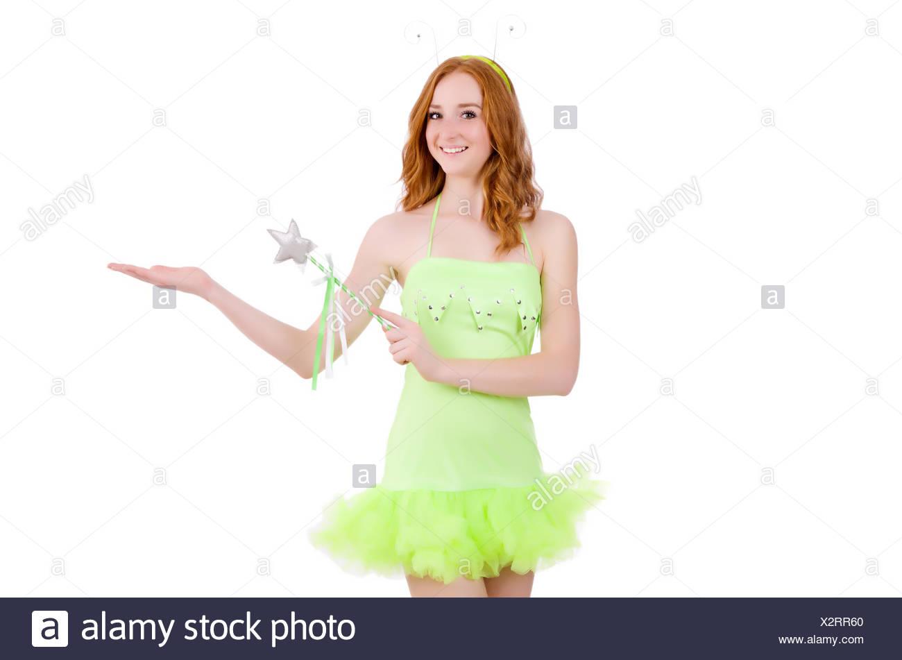 b4d794358c1 Pretty Teenager In Red Mini Dress Stockfotos   Pretty Teenager In ...