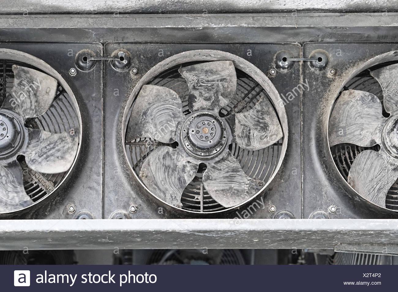 Industrie-Ventilatoren Stockbild