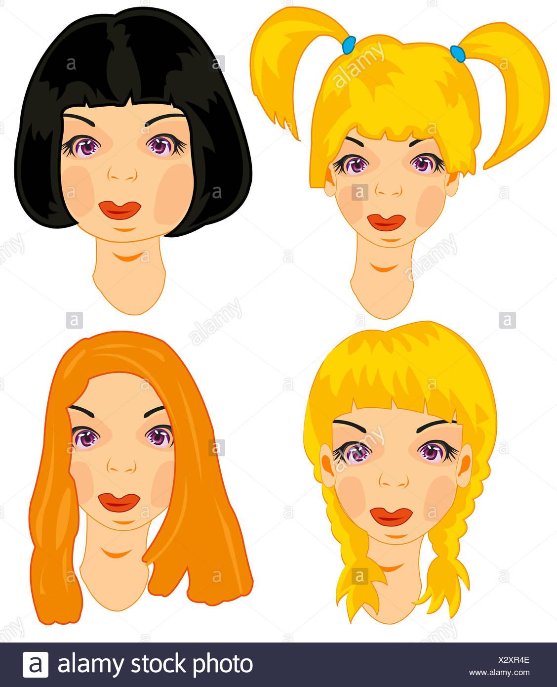 Frisuren Jungen Mädchen Stockfoto Bild 277184110 Alamy