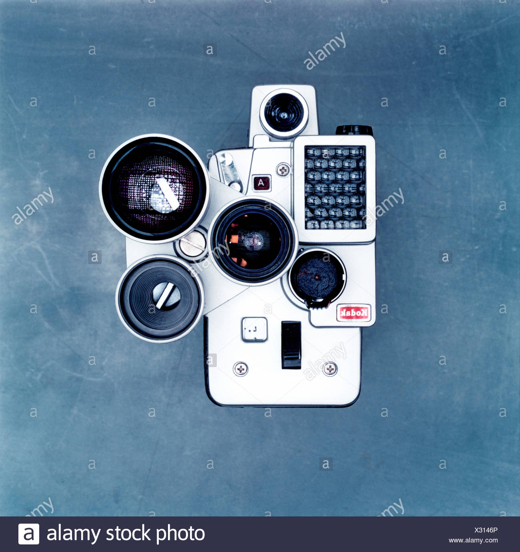 Studioaufnahme des alten altmodischen Kamera Stockbild