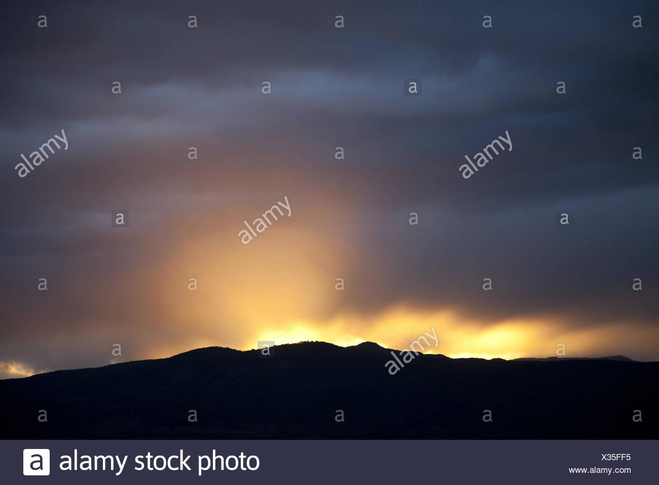 Argentinien Ushuaia Fin Del Mundo Berge Sonnenuntergang