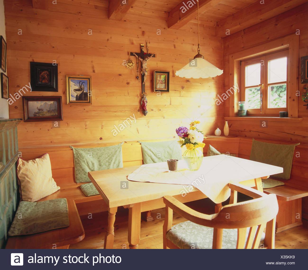 Attraktiv Detail, Zimmer, Bauernstube, Küche, Wohnraum, Wohnraum, Essecke, Eckbank,  Esstisch, Holzstück, St. Möbel, Wand, Wandbelag, Wände Aus Holz, Aus Holz,  ...