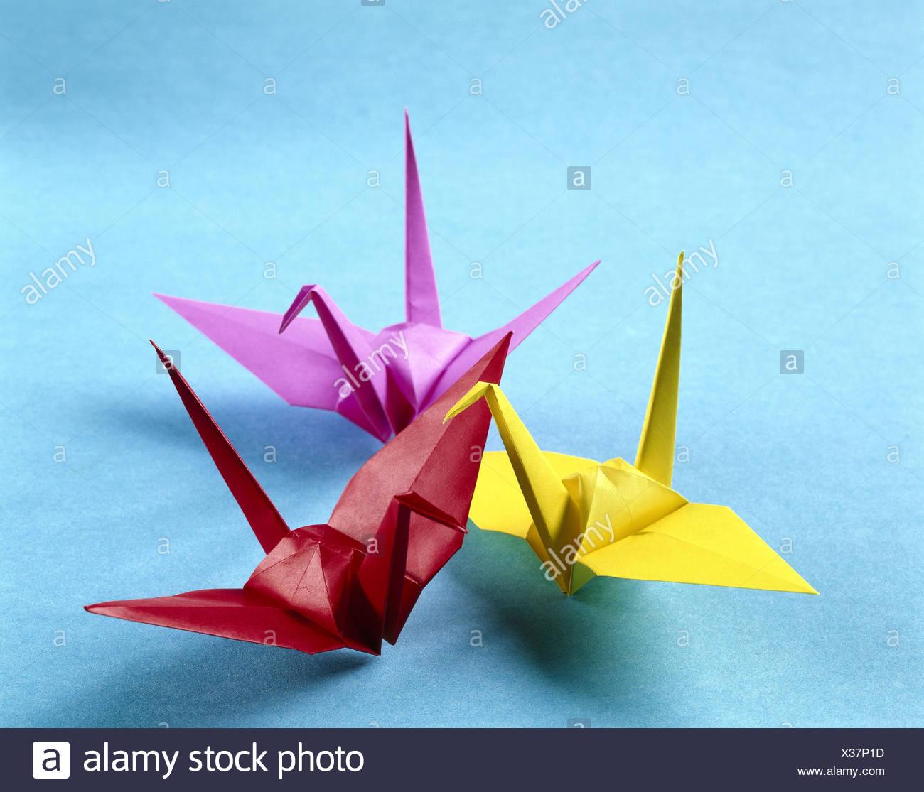 Extrem Origami, die japanische Papierfalten Kunst, Tiere, Vögel, hell EH46