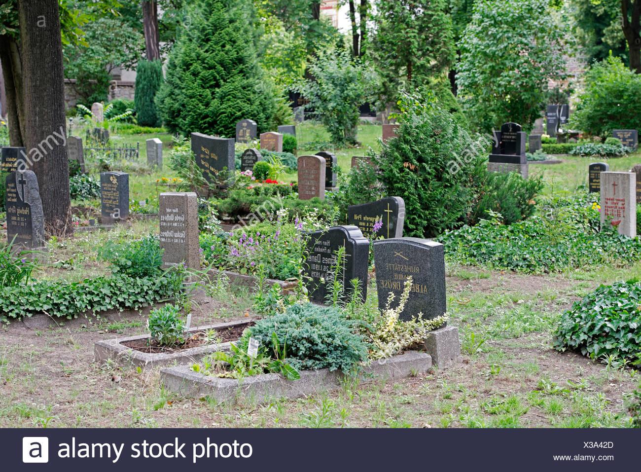 Dorotheenstadt Friedhof, Berlin Stockbild