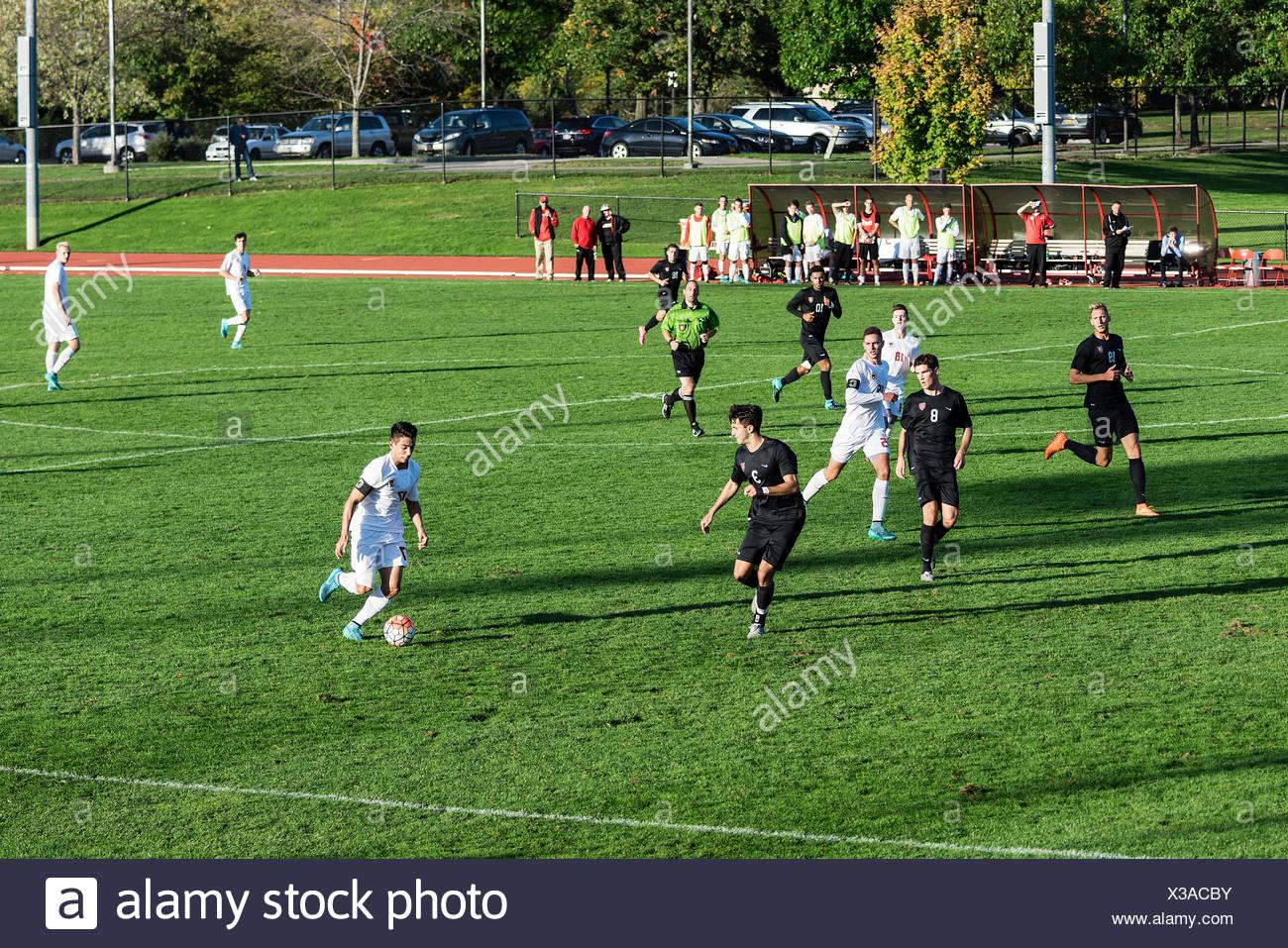Harvard Vs Cornell Herren Fußball Spiel, Cornell University, Ithaca, New York, USA Stockfoto