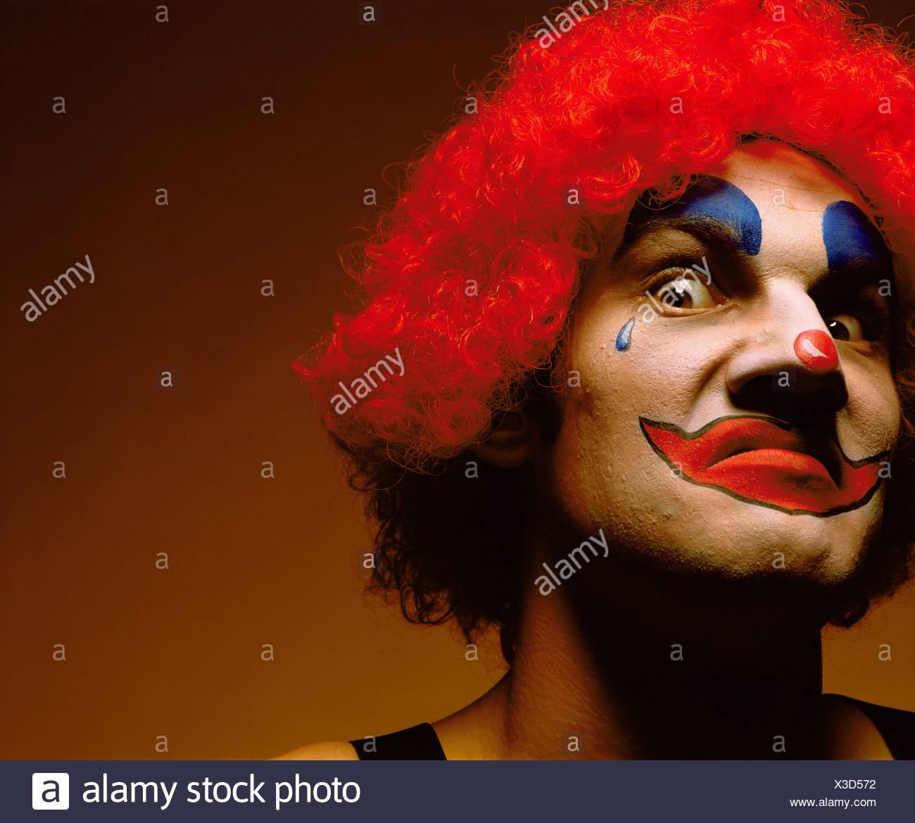 unheimlich aussehende clown Stockbild