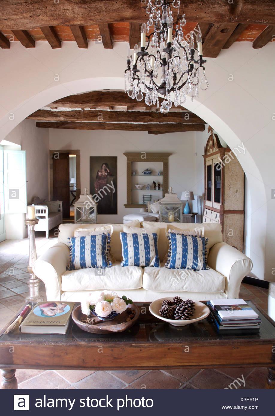 Striped Sofas Cushions Stockfotos & Striped Sofas Cushions Bilder ...