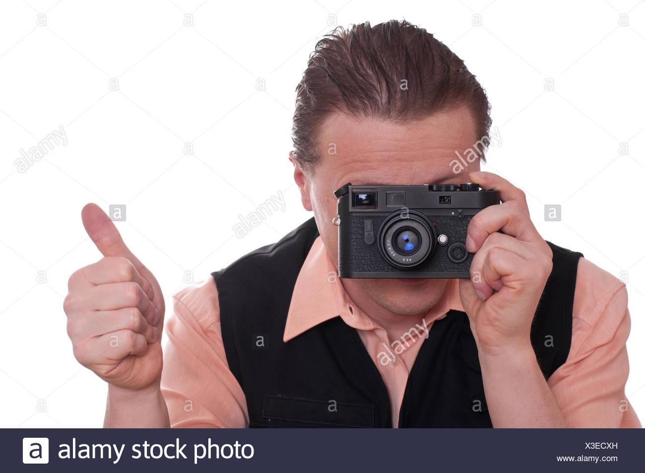 Entfernungsmesser Für Fotografie : Ok optional foto kamera fotograf entfernungsmesser mann