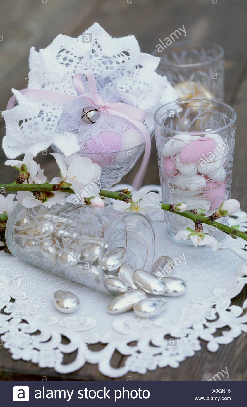 Mandelbaume Bluhen Sweet Als A Mutter Rosa Weiss Und Silber