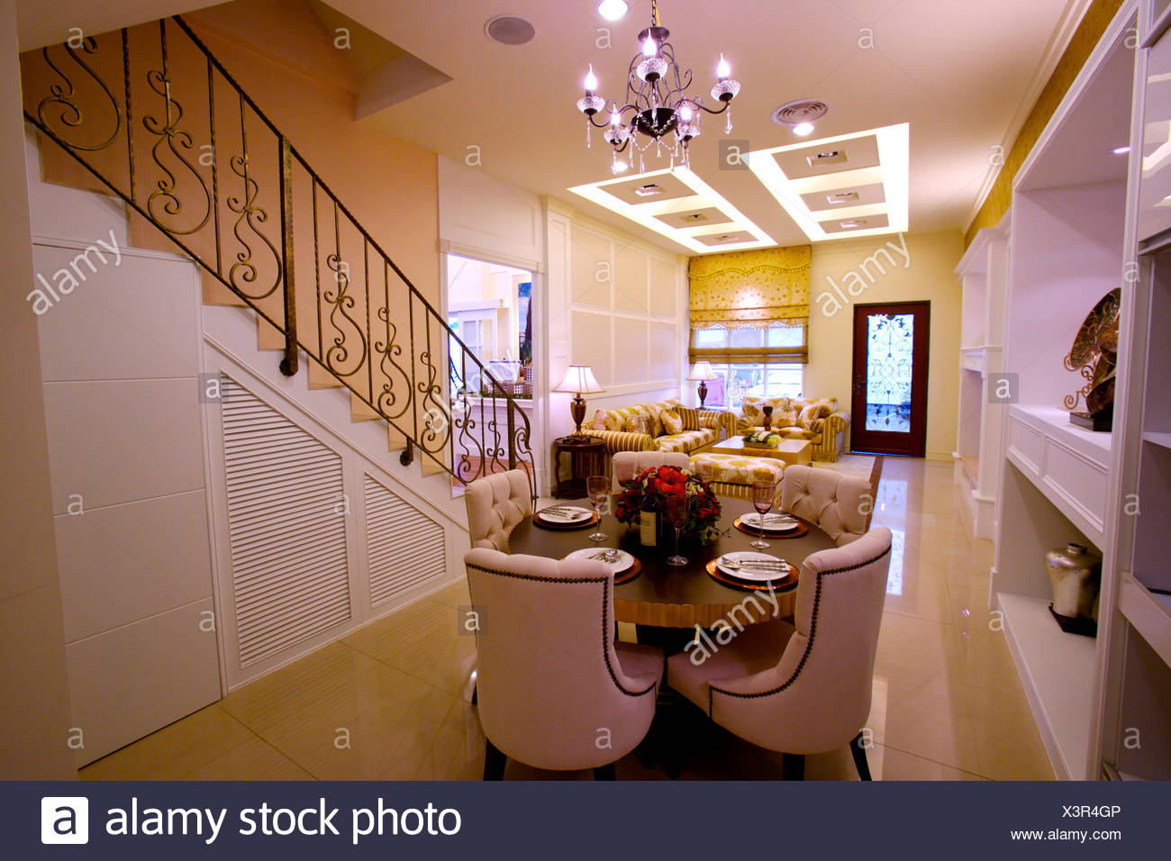 Living And Dining Room Stockfotos & Living And Dining Room Bilder ...