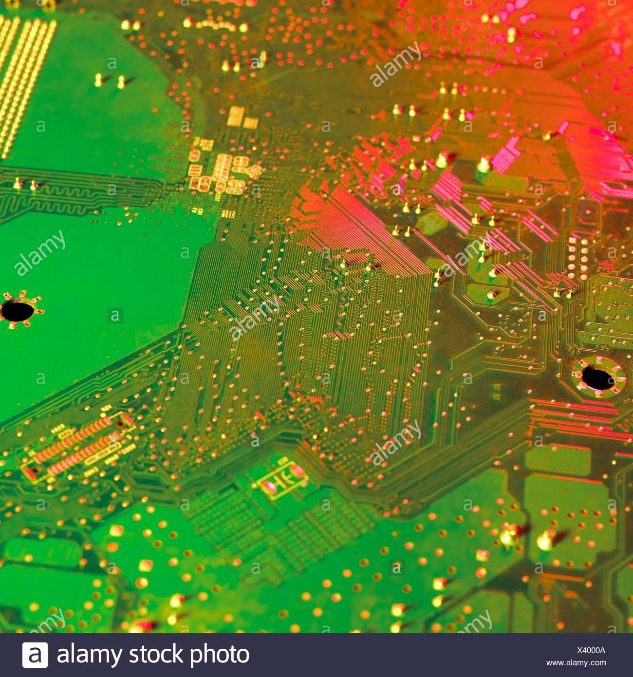 Circuit Board, Nahaufnahme. Stockbild