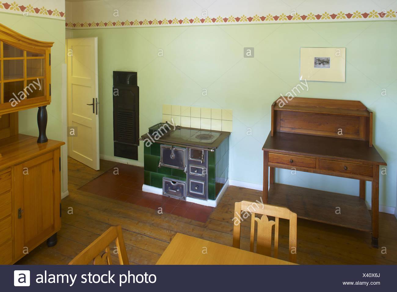 Indoor-Foto, Musterwohnung (Beispiel Wohnung) Stensstr. 25 in der Gartenvorstadt Margarethenhoehe, Essen, Ruhrgebiet, North Rhin Stockbild