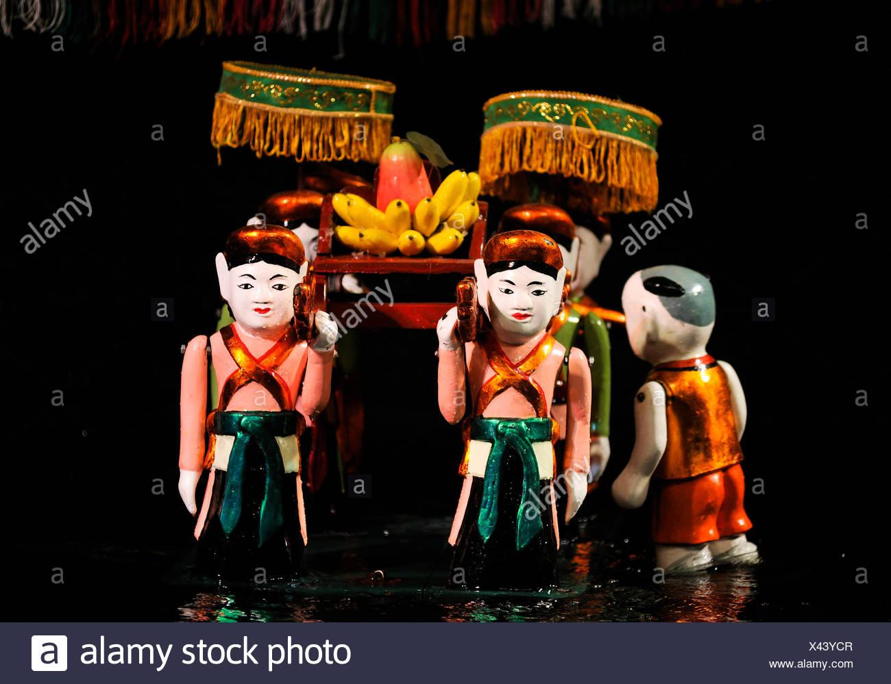Puppen, Thang Long-Wasser-Marionetten-Theater, Hanoi, Nordvietnam, Vietnam, Südostasien Stockfoto