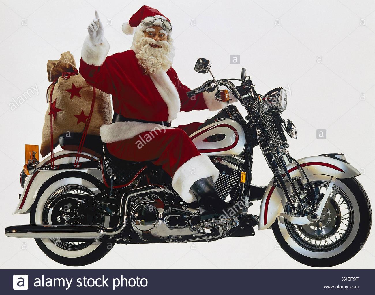 weihnachtsmann auf motorrad geste beutel vorschau mb. Black Bedroom Furniture Sets. Home Design Ideas