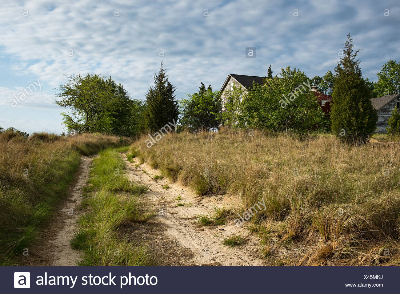 Verlassenen ländlichen Bauernhaus. Stockbild