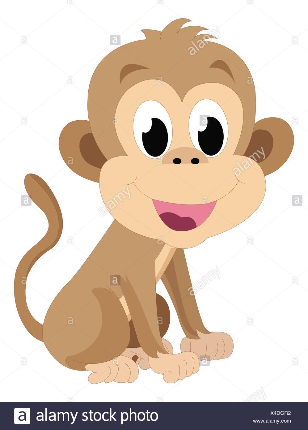 Monkey Vector Illustration Stockfotos & Monkey Vector Illustration ...