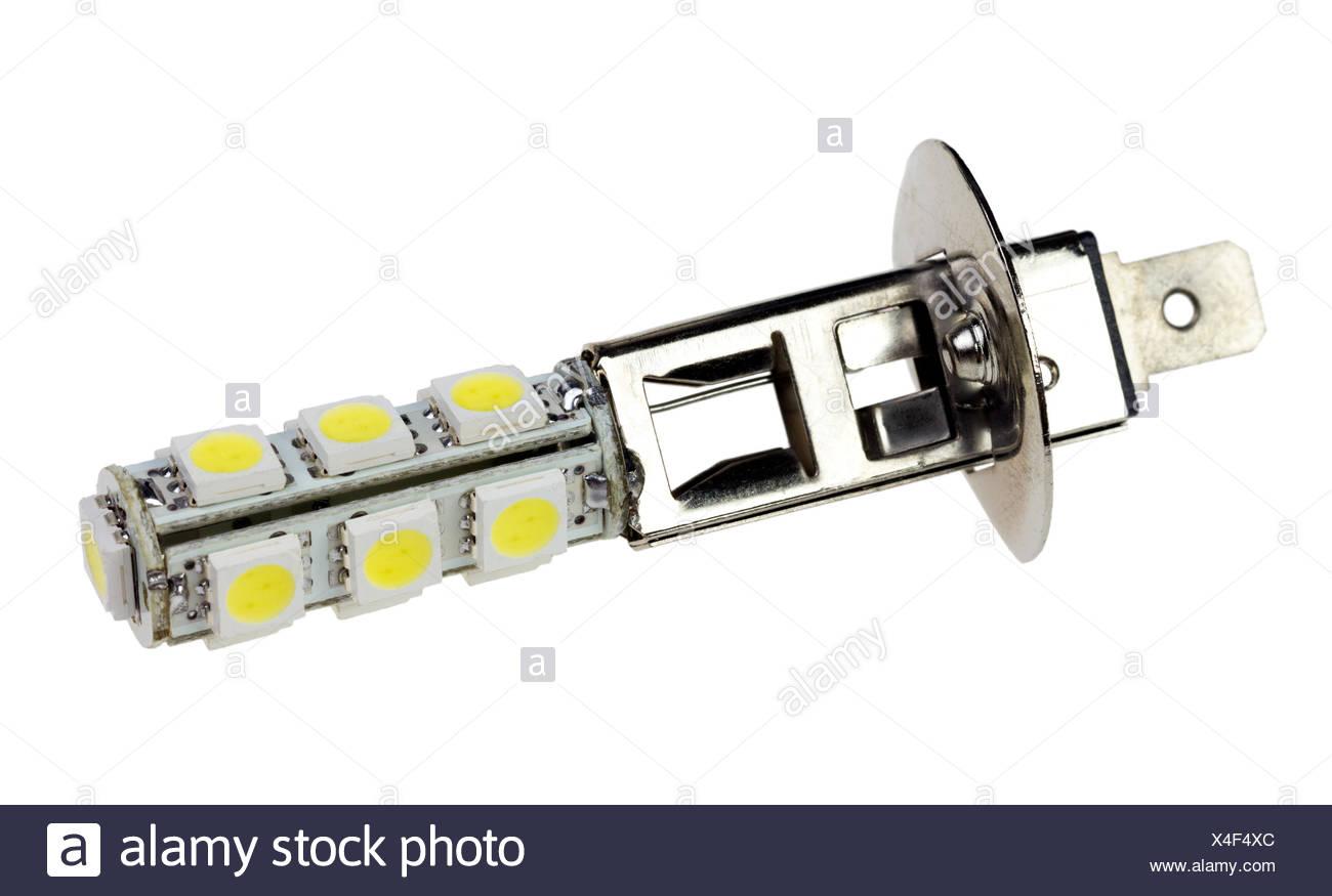 Auto Led Lampen : Led lampe für auto auf dem weißen hintergrund isoliert stockfoto