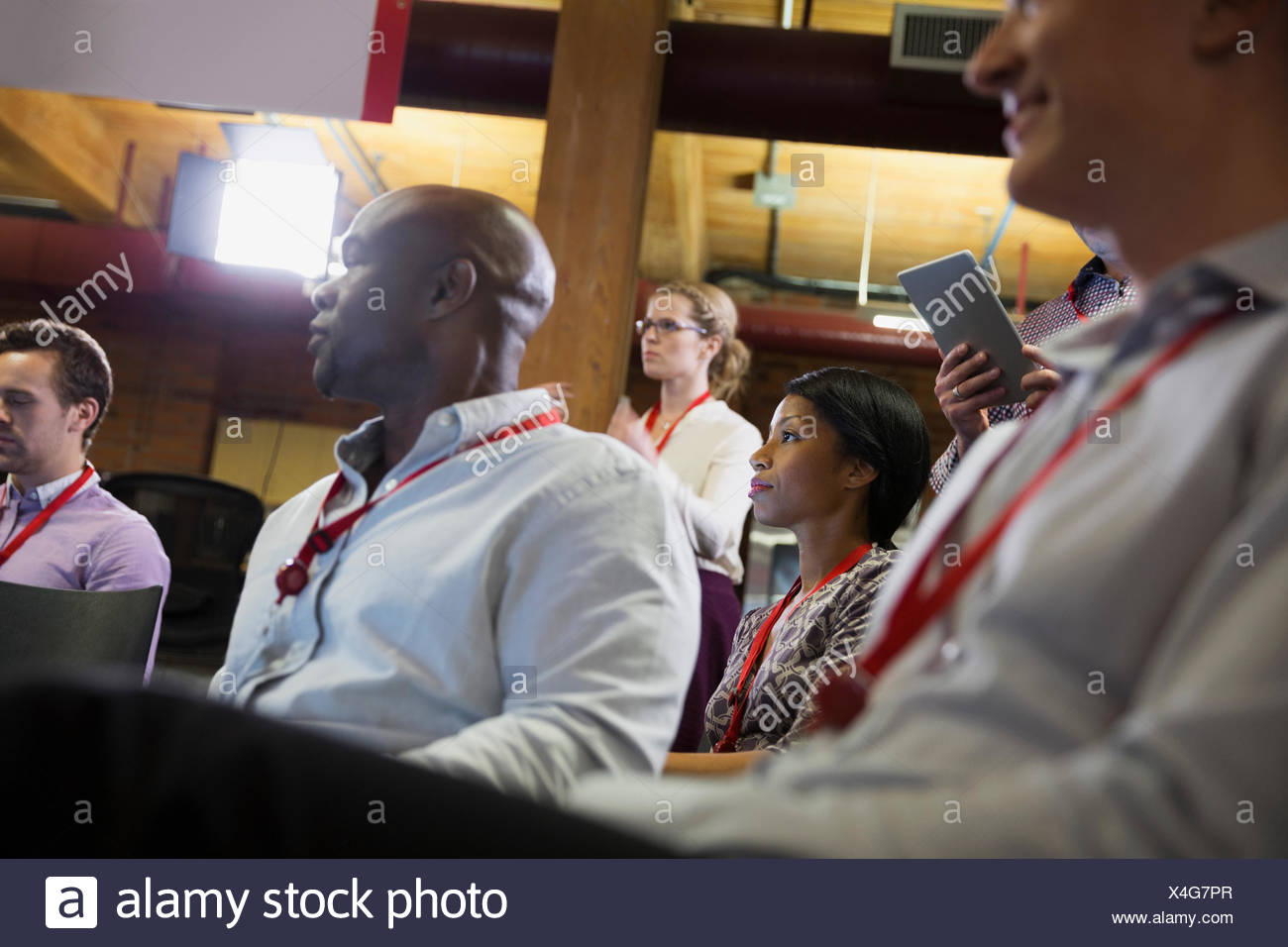 Geschäftsleute in Zielgruppe Konferenz Stockbild