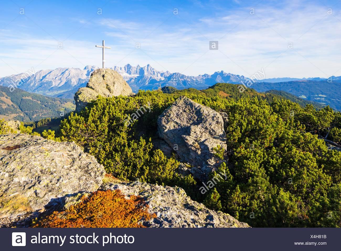 Landschaft, Berg, Gebirge, Alpen, Europa, Westeuropa, Mitteleuropa, Österreich, Salzburger Land, Himmel, Ruhe, Konzept, Idylle, Reise, Natur, n Stockbild