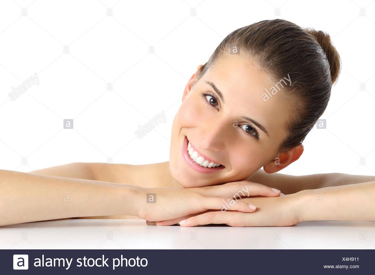 reife Frau Gesichtsbehandlung