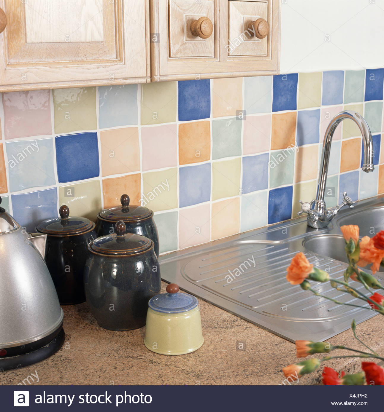 Kitchen Details Tiling Stockfotos & Kitchen Details Tiling Bilder ...