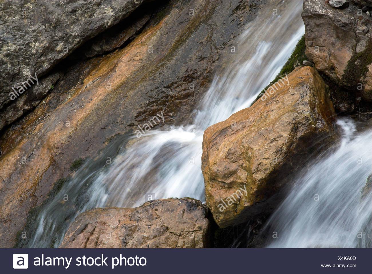 Bergbach im Alpsteingebirge Kanton Appenzell, Schweiz Stockbild