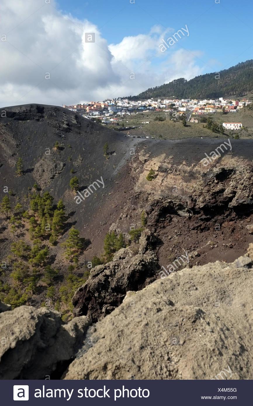 Los Canarios, Vulkan San Antonio, La Palma Stockbild