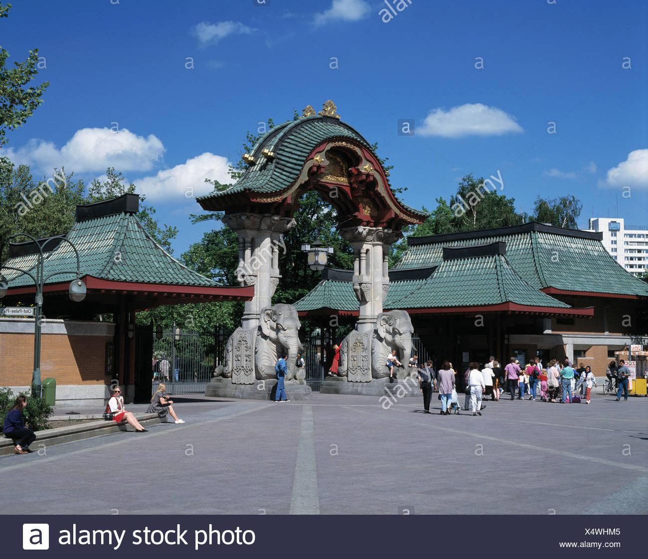 Touristen Eintritt Zoo Berlin Tiergarten Tierpark Zoo Elefant