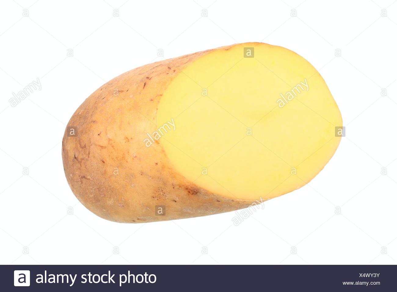 Kartoffel, Talent Sorte, in zwei Hälften geschnitten Stockbild