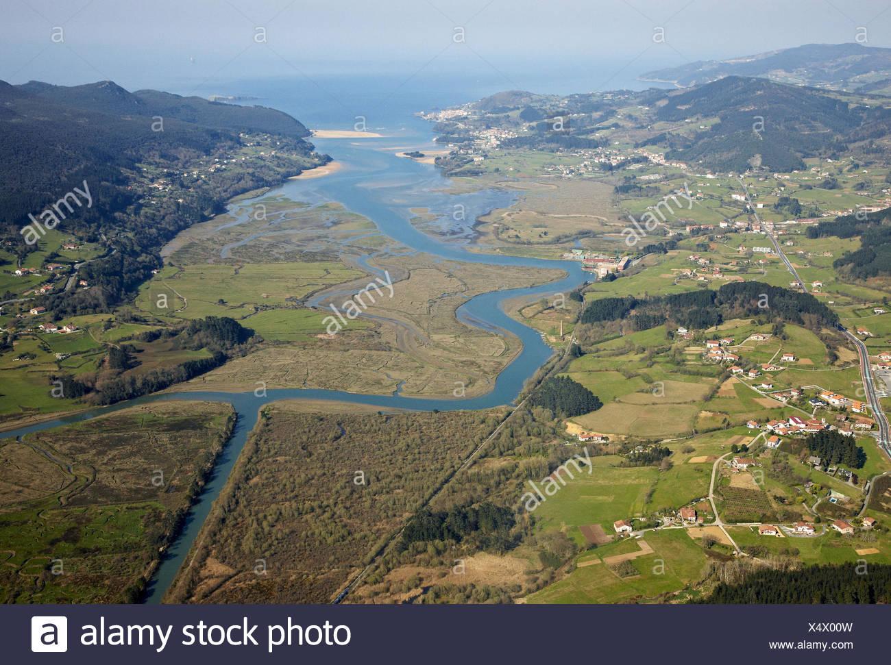 Urdaibai Biosphären Reservat, Biskaya, Baskenland, Spanien Stockbild