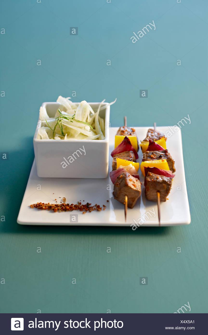 Rindfleisch Brochette Stockbild
