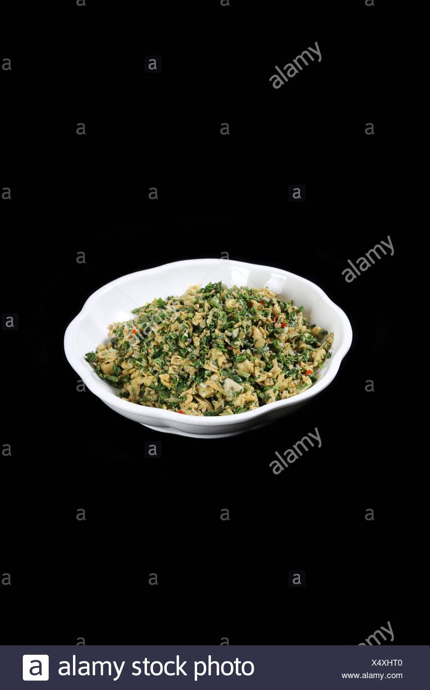 Chinesische Küche Toon Rührei Stockbild