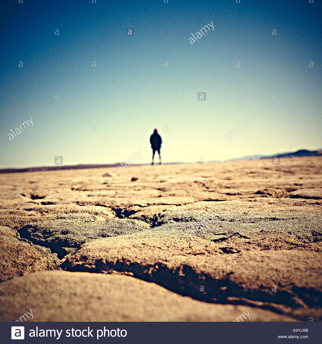 USA, California, Adelanto, El Mirage Dry Lake Stockbild
