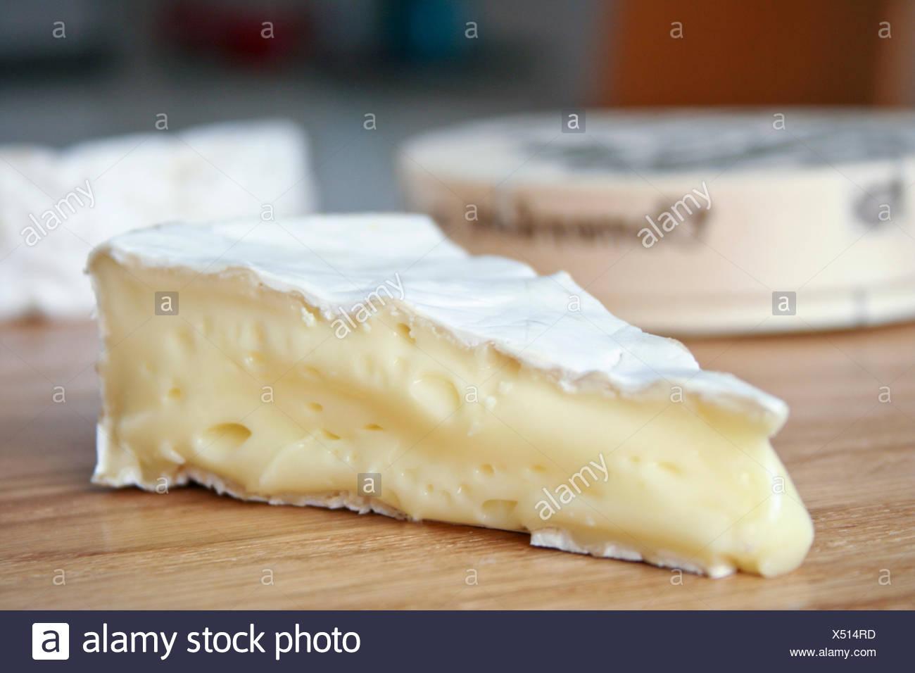 Käse, Camembert, brie Stockbild