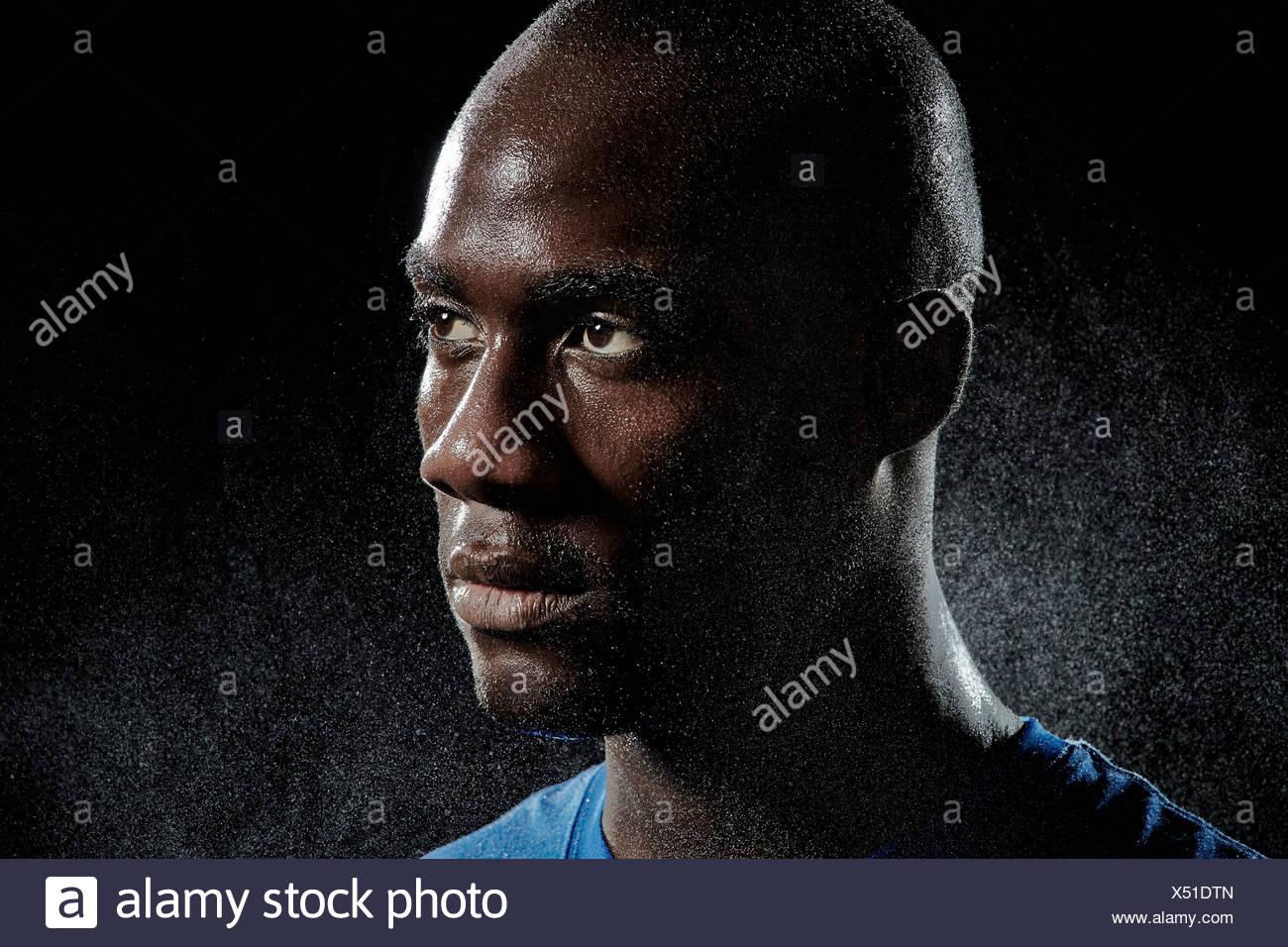 Porträt von Basketball-Spieler hautnah Stockfoto