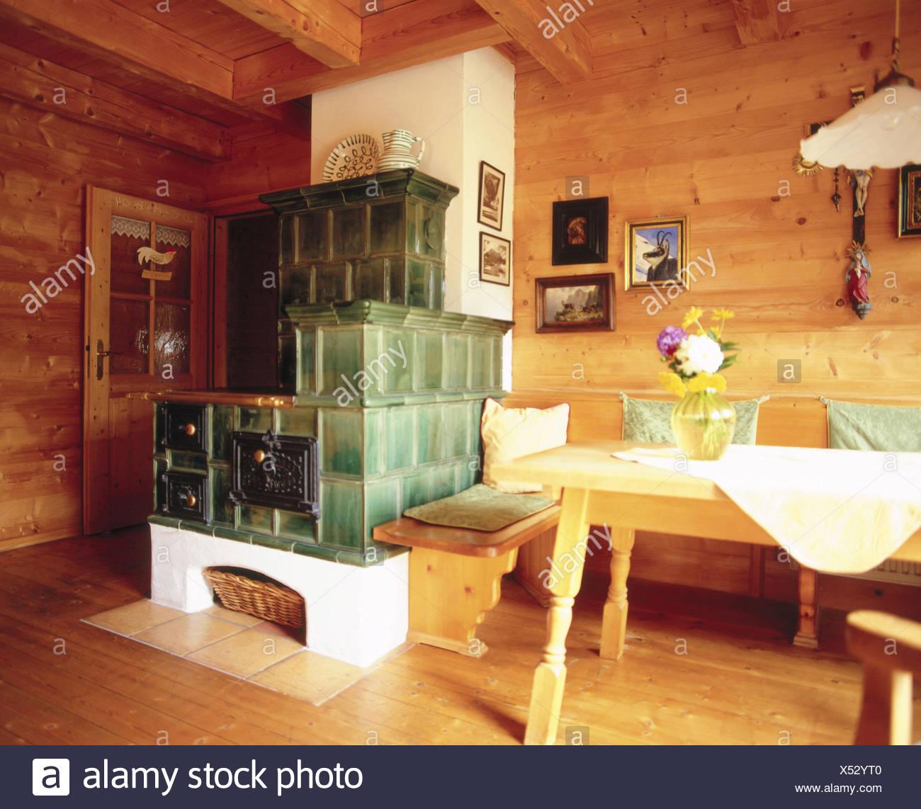 Wohnraum, Kachelofen Zimmer, Bauernstube, Küche, Wohnraum, Essecke ...
