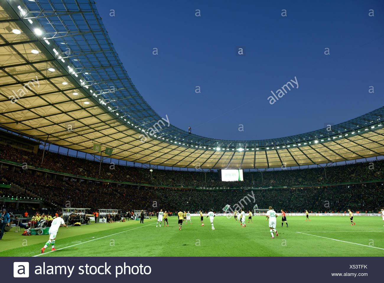 Dfb Pokalfinale 2015 Olympiastadion Am Abend Berlin Deutschland