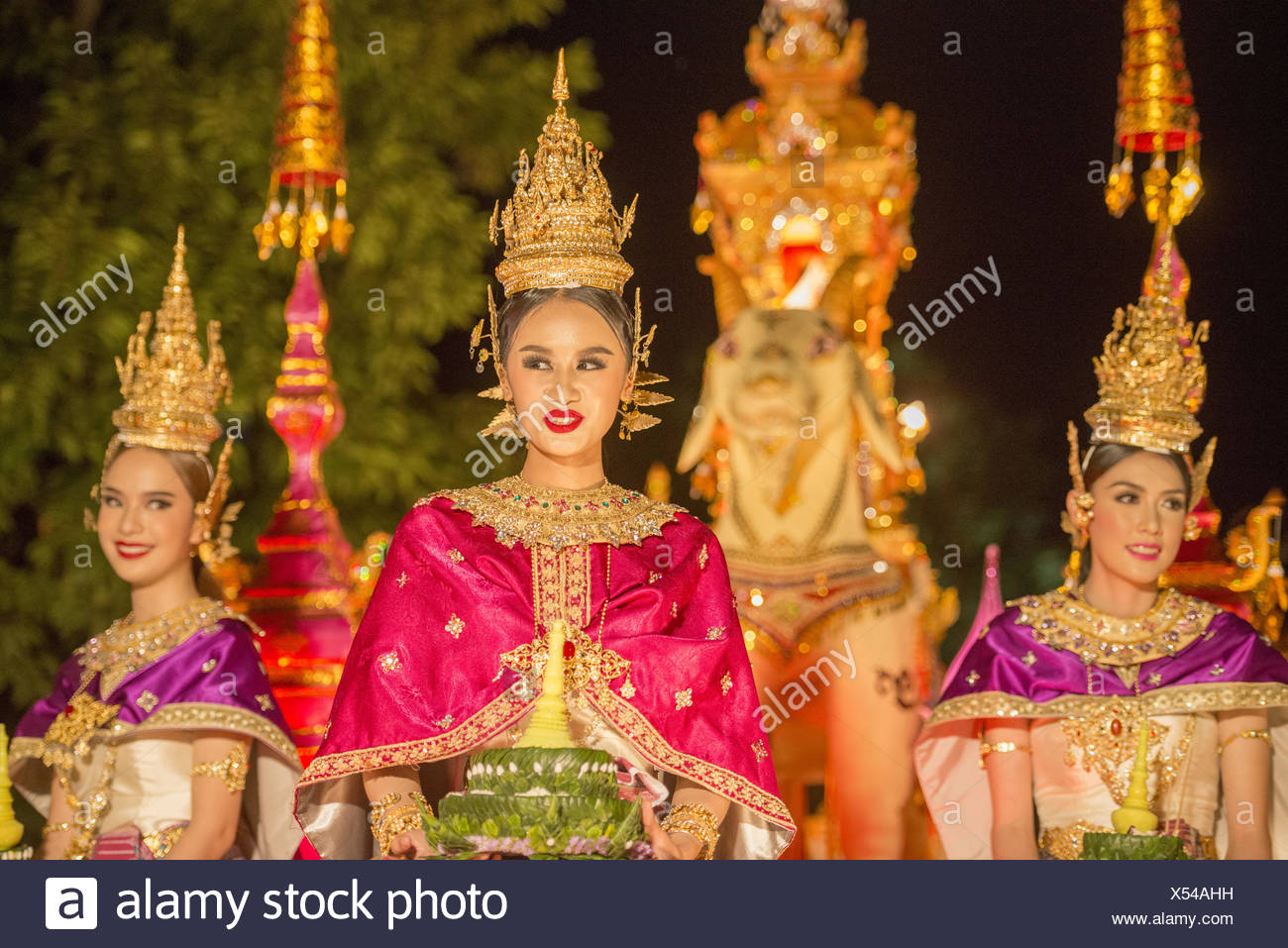 ASIEN THAILAND CHIANG LOY KRATHONG FESTIVAL Stockfoto
