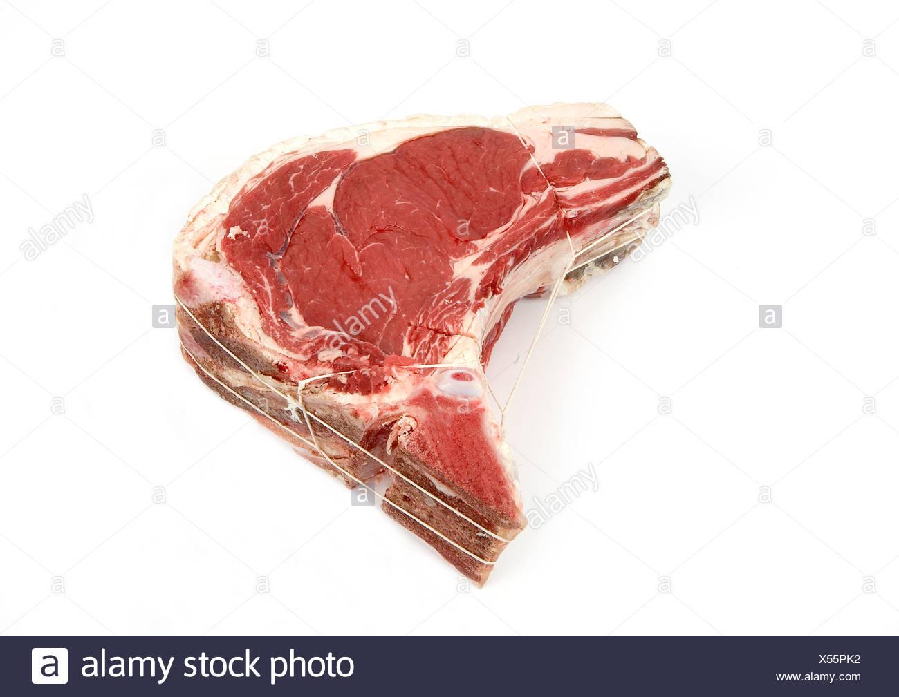 Roastbeef am Knochen Stockbild