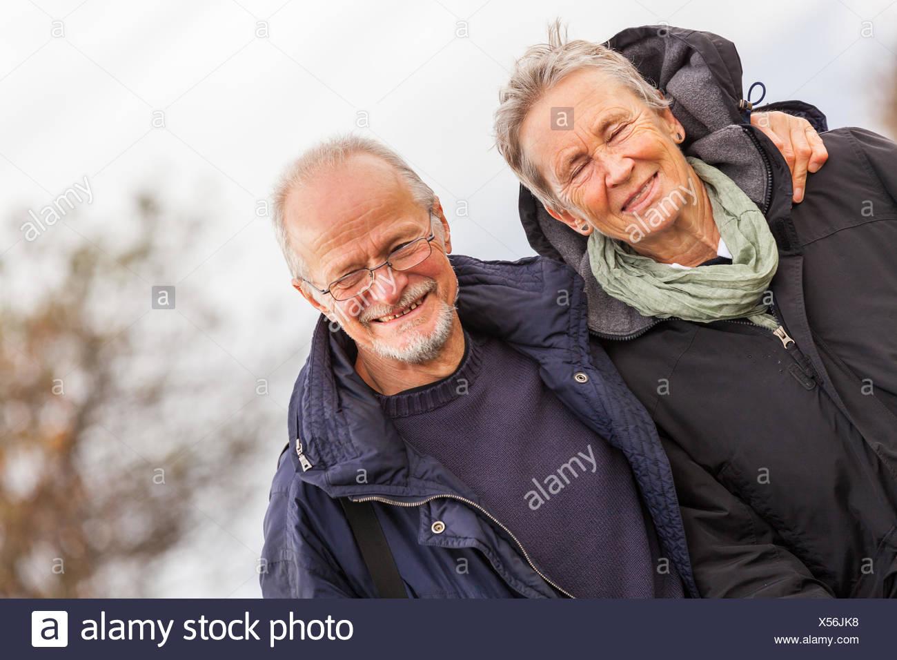 Älteres Paar macht Spaß