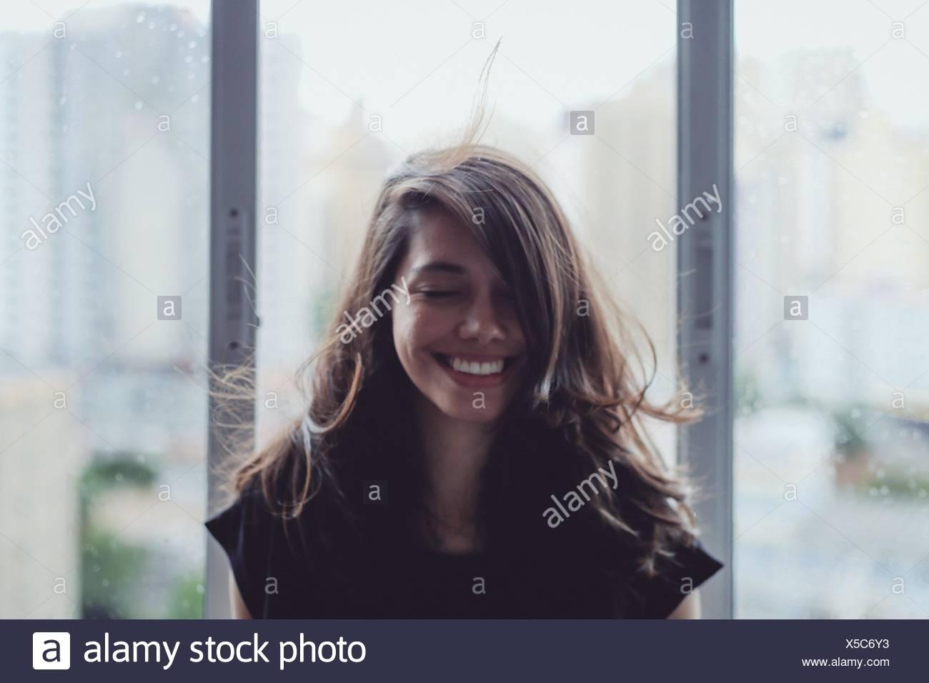Porträt einer jungen Frau Stockbild