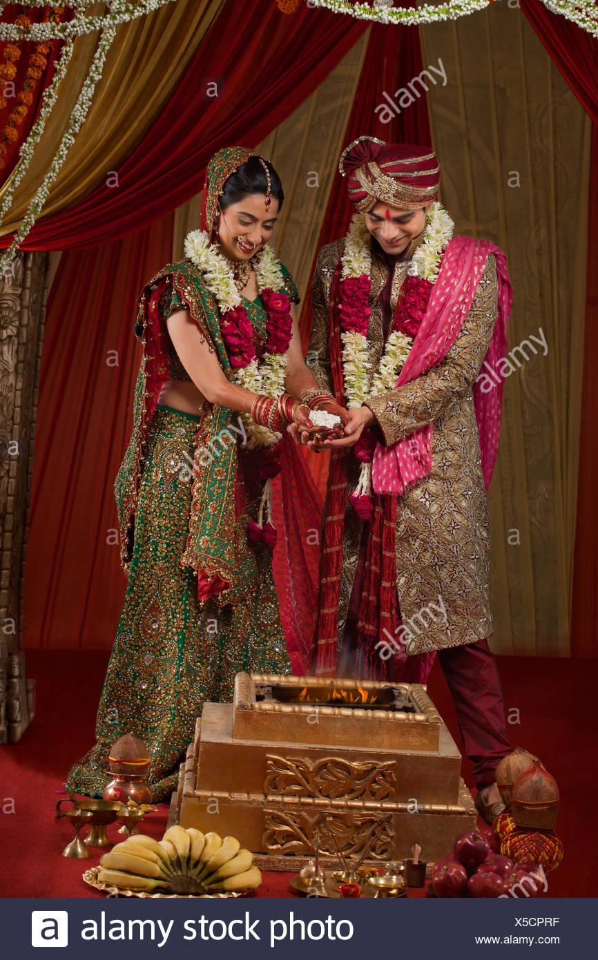 Traditionelle Indische Hochzeitszeremonie Stockfoto Bild 278720499