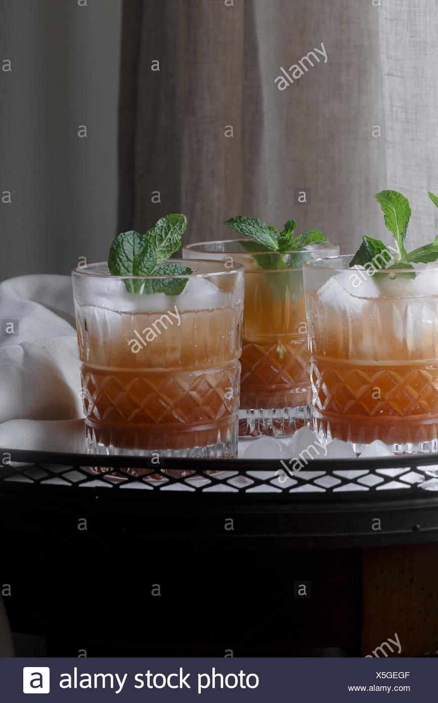 Trauben Mocktail alkoholfreies Getränk Stockbild