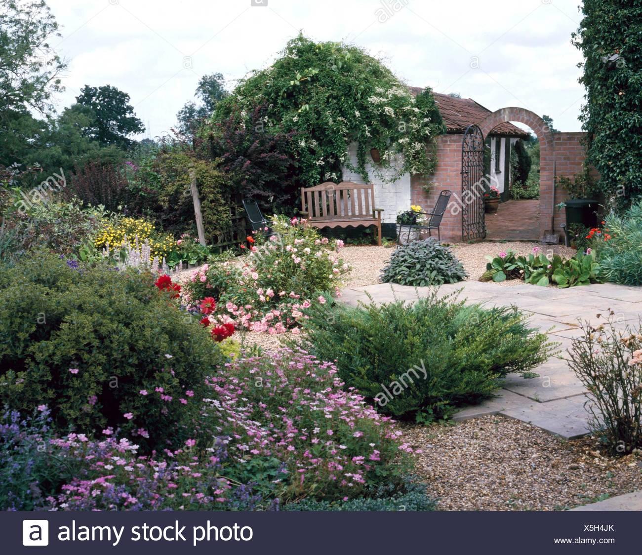 Garten Im Mediterranen Stil Med086385 Stockfoto Bild 278816011 Alamy