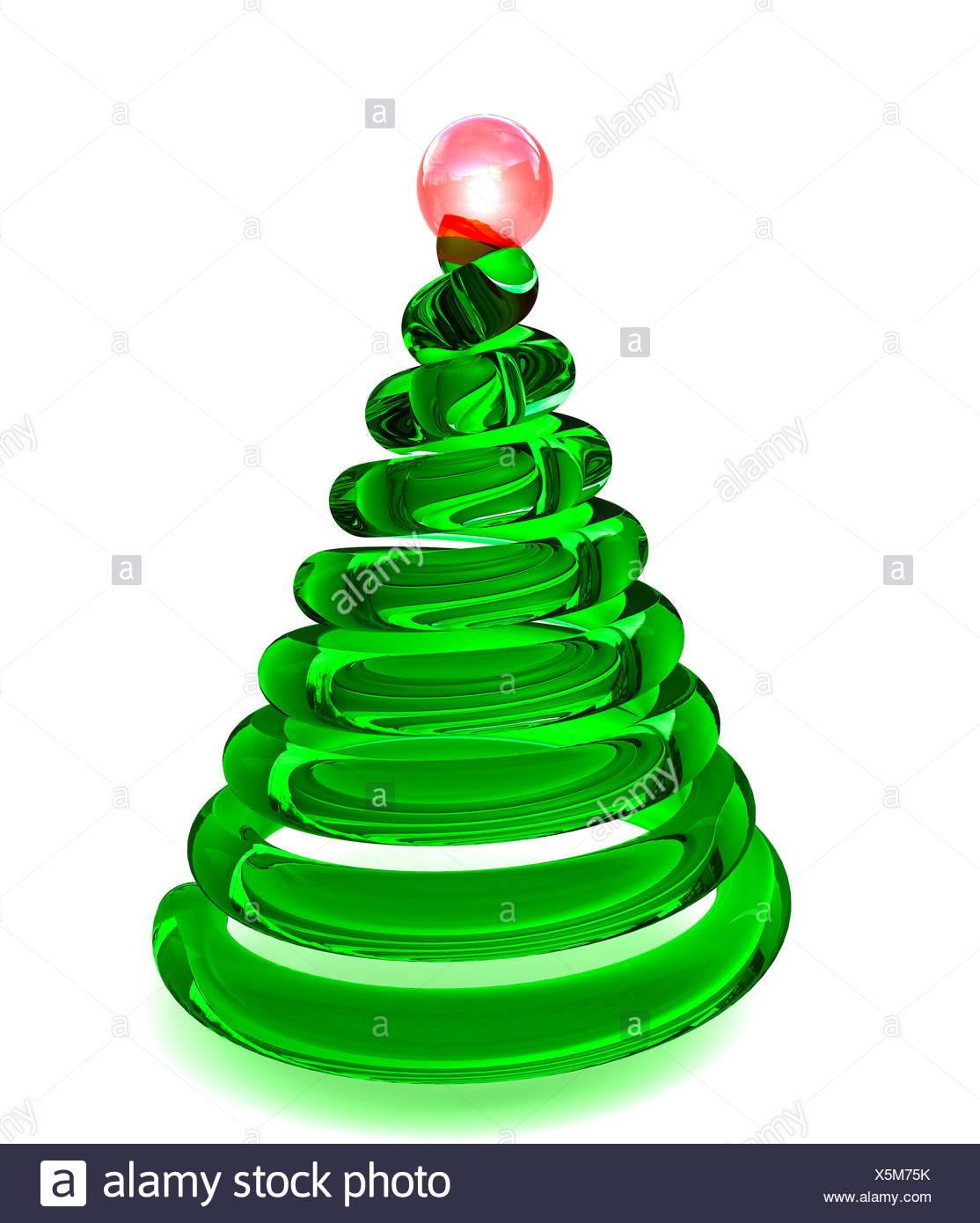 Weihnachtsbaum im Glas Stockbild