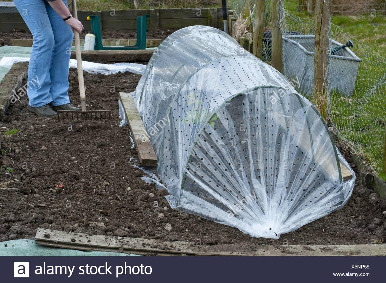 Cloche Ernte Garten Gartenarbeit Salat Polyathylen Schutz Tunnel